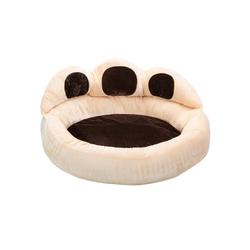 tectake Hundematte Hundebett Balou beige 95 cm x 95 cm