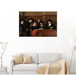Posterlounge Wandbild, Die Staalmeesters 90 cm x 60 cm