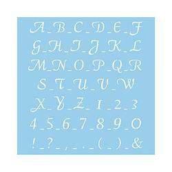 Rayher Dekor-Schablone ABC klassisch blau