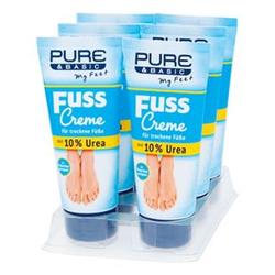 Pure & Basic Fusscreme 10 % Urea 100 ml, 6er Pack