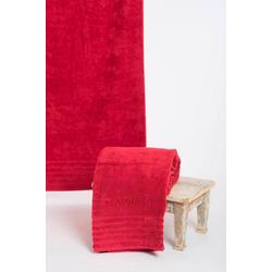 Wewo fashion Saunatuch AIDA (1-St), Bestickung SAUNA rot
