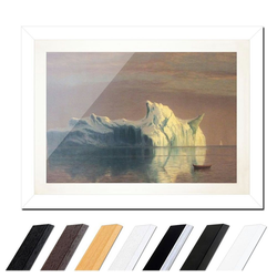 Bilderdepot24 Wandbild, Albert Bierstadt - The Iceberg - Der Eisberg bunt 80 cm x 60 cm