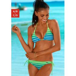Venice Beach Triangel-Bikini in Neonfarben grün 32