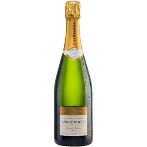 Champagne Grand Reserve Grand Cru Cuvee aus 80% Pinot Noir, 20% Chardonnay 20 % der Grundweins reift 15-16 Monate im großen Holzfass uChampagne Andre