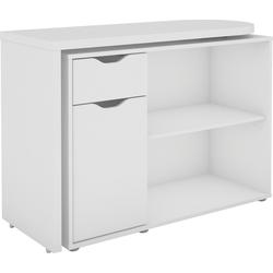 Homexperts Schreibtisch Turner, mit drehbarer Tischplatte weiß