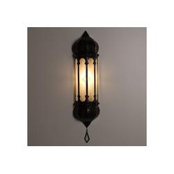 Casa Moro Wandleuchte Casa Moro Orientalische Wandlampe marokkanische Wandleuchte Ruya Klar 57x12 cm (H/B) aus Eisen & Klar-Glas, Kunsthandwerk aus Marrakesch, Schöne orientalische Dekoration, L5060
