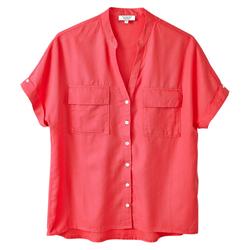 Aigle Damen Bluse Yarrowshirt rot, Gr. 34