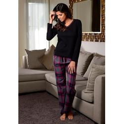 LASCANA Pyjama mit kuscheliger Flanellhose 36