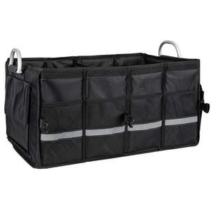 ONVAYA Organizer Kofferraumtasche schwarz, Auto Organizer mit ca 55 Litern Fassungsvermögen, Autotasche, Kofferraumbox mit Taschen