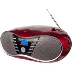 Dual P 60 BT CD-Radio UKW AUX, Bluetooth®, USB Rot