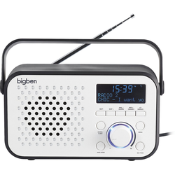 BigBen Tragbares DAB-Radio TR24 (weiss) Radiowecker