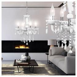 etc-shop Kronleuchter, Kronleuchter Decken Hänge Leuchte im Set inklusive 18 Watt LED Leuchtmittel