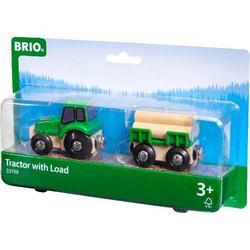 Brio Traktor mit Holz-Anhänger 33799