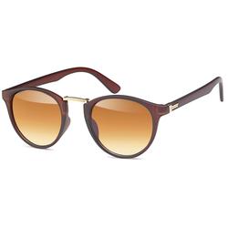 styleBREAKER Sonnenbrille Sonnenbrille mit runden Gläsern und Metall Nasensteg Getönt braun