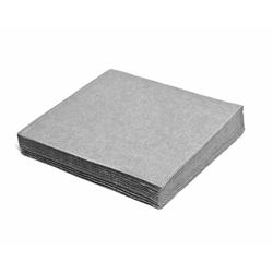 Servietten 33 x 33 cm 1/4-Falz 3-lagig grau, 20 Stk.