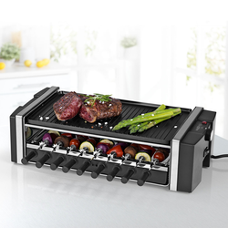 Raclette »Multi-Raclette-Grill 3in1«, 6 St. Raclettepfännchen, 1200 W, Raclette, 42573808-0 schwarz schwarz