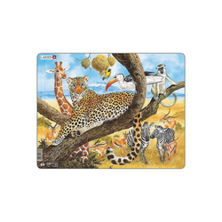 Larsen Puzzle Rahmen-Puzzle, 48 Teile, 36x28 cm, Leopard, Puzzleteile