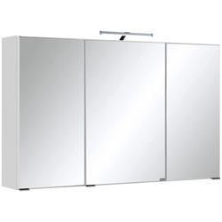 HELD MÖBEL Spiegelschrank Texas Breite 100 cm, mit LED-Aufbauleuchte weiß