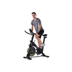 Merax Speedbike Apollo, Indoor Cycle Bike mit 8KG Schwungrad, Heimtrainer Fahrrad mit LCD Display gelb