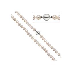 JOBO Perlenkette, 925 Silber mit Akoya-Zuchtperlen 45 cm