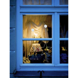 Polarlite LBA-50-015-1 LED-Fensterbild Weihnachtsbaum LED Transparent