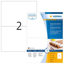 200 HERMA wetterfeste Etiketten 4378 weiß