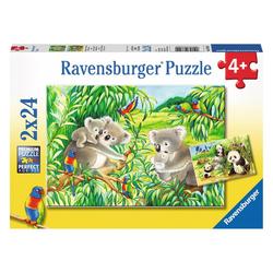 Ravensburger Puzzle Süße Koalas Und Pandas, 48 Puzzleteile bunt