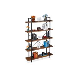 relaxdays Bücherregal Bücherregal Industrial mit 5 Ebenen