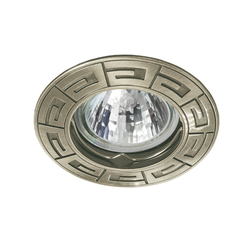 Einbaustrahler RODOS, rund, Alu/Druckguss, 85mm, Messing pat
