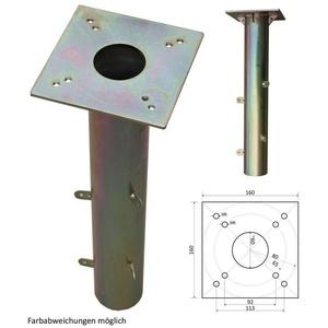 PROKIRA Outdoor-Bodenplatte für Sonnenschirme Gartenschirm, Schirmständer geeignet, 16x16cm, einfache Montage