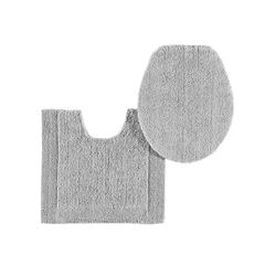 Badteppich , wendbar grau ca. 50/80 cm, halbrund
