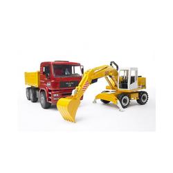 Bruder® Spielzeug-Auto BRUDER 02751 MAN TGA Kipper und Schaufelbagger