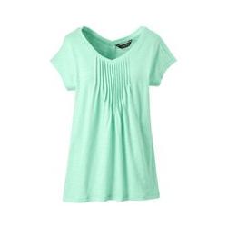 Langes Shirt mit Biesen - XS - Grün