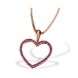 goldmaid Collier Red Heart 375 Rotgold 30 Rubine 0,18 ct. rot