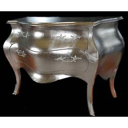 Barock Kommode Silber 120cm