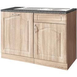 wiho Küchen Spülenschrank 110 cm breit, inkl. Tür für Geschirrspüler beige