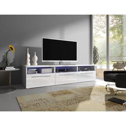 Baidani Lowboard, TV-Board Designer TV-Board Depose, mit LED und Stauraum in Hochglanz