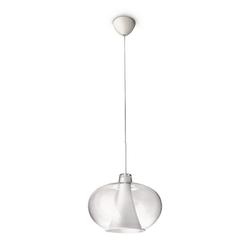 Qualitaetsware24 Hängeleuchte Philips Ecomoods Pendelleuchte Weiß Glas Ø 34,5cm inkl. Leuchtmittel