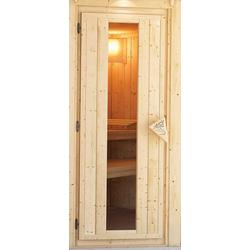 KARIBU Saunatür für 38/40 mm Sauna, BxH: 64x173 cm natur