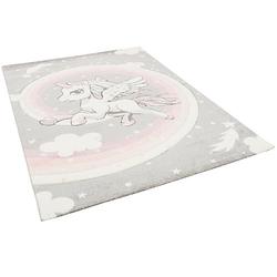 Kinder Teppich Maui Kids Pastell Einhorn Spielteppiche grau Gr. 200 x 290