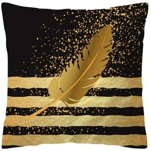 Xmiral Kissenbezüge Rose Black Gold Kissenbezug Platz Sofakissen Pillowcase(D)