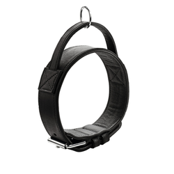 Hunter Trainingshalsband mit Griff Larvik, 55: 38 - 47 cm, Breite 4,8 cm, schwarz
