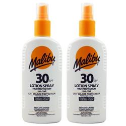 Malibu Sonnenlotion Sonnenspray Sonnenschutz 2 x 200 ml NEU mit LSF 30 Set