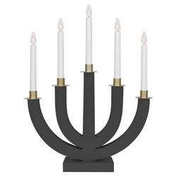 matches21 HOME & HOBBY Kerzenhalter Moderne Kerzenleuchter Weihnachten 5-flammig grau