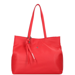 Patrizia Pepe Fly Loop Shopper Tasche Leder 41 cm flame red