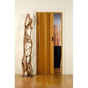 Falttür Monica, BxH: 83x204 cm, Eichefarben-Pastell ohne Fenster
