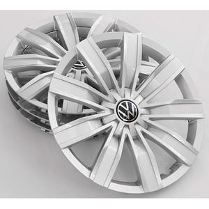 Volkswagen 5NA071457BUWP Radkappen (4 Stück) Radblenden 17 Zoll Radzierblenden Radzierkappen, Silber, Brillantsilber