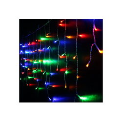 TOPMELON Lichtervorhang LED-Lichterkette, 128-flammig bunt 100 cm x 3 m