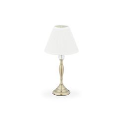 relaxdays Nachttischlampe Kristall Tischlampe goldfarben
