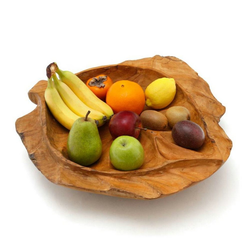 ROG-Gardenline Dekoschale, TEAKHOLZ, 50 CM beige